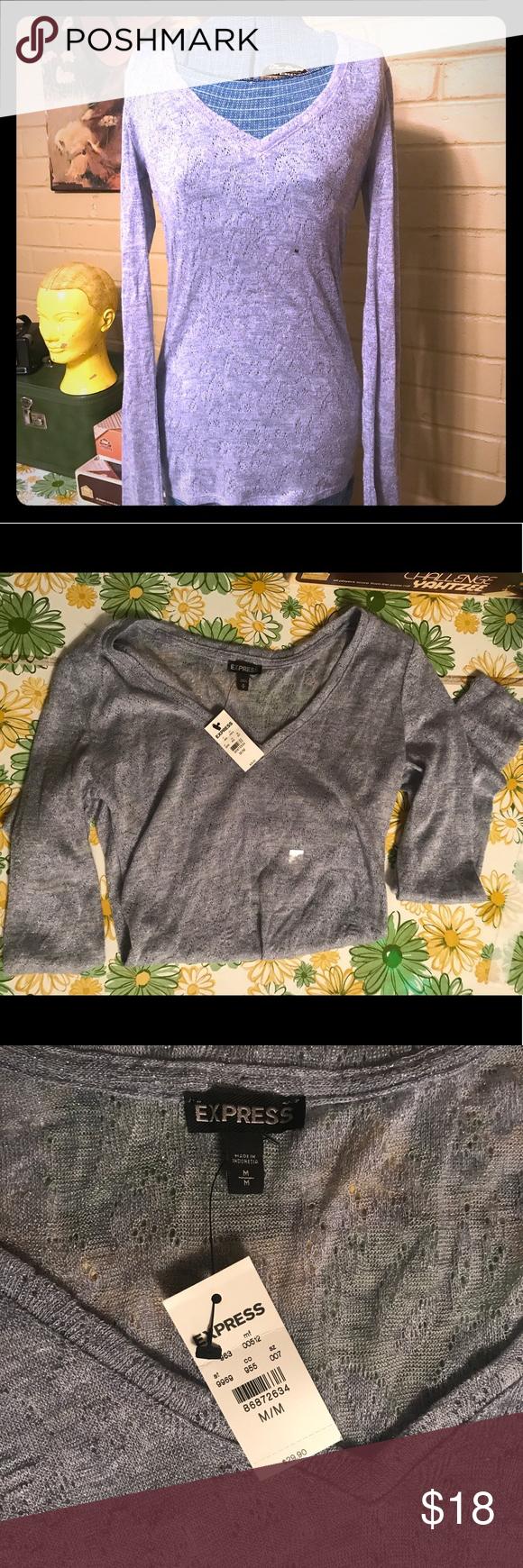 NWT Super Comfy Blue/Grey Long Sleeve Thin Sweater NWT | Blue grey ...