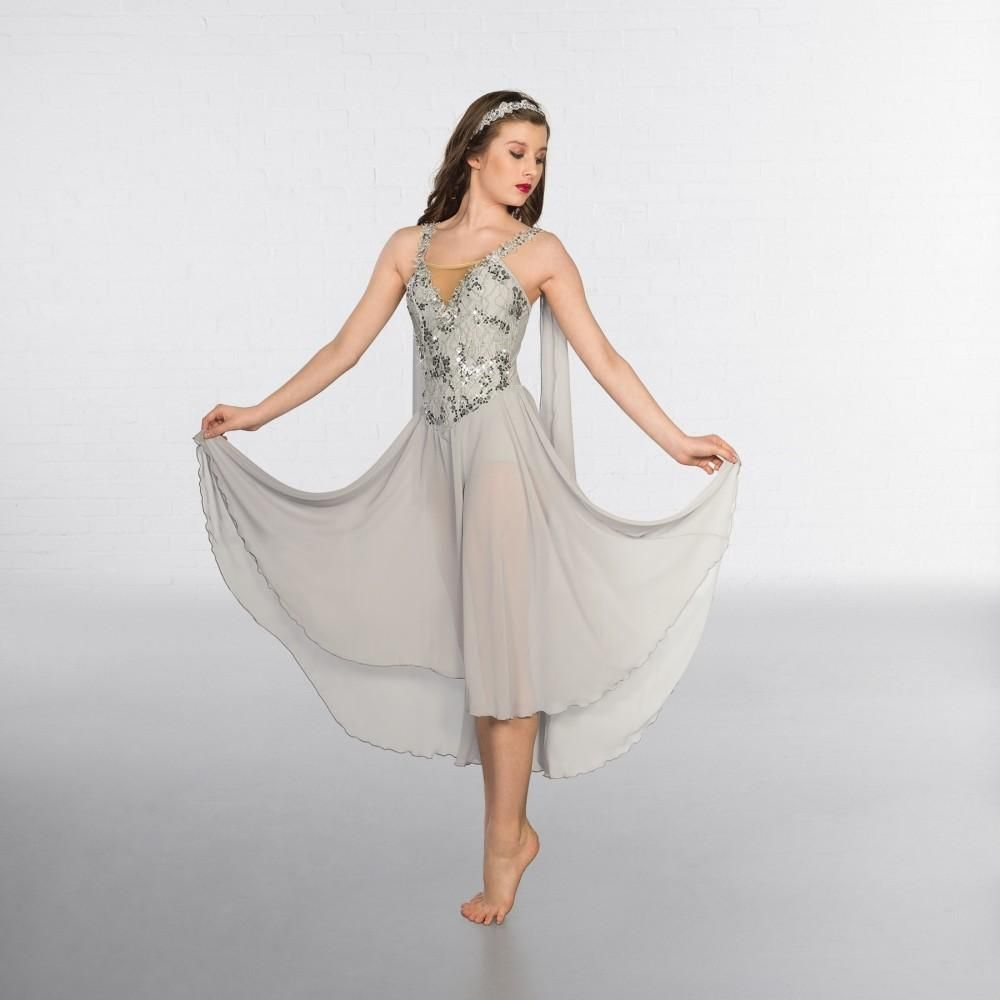 c698b17fe 1st Position Lunar Sequin Trim Lyrical Dress