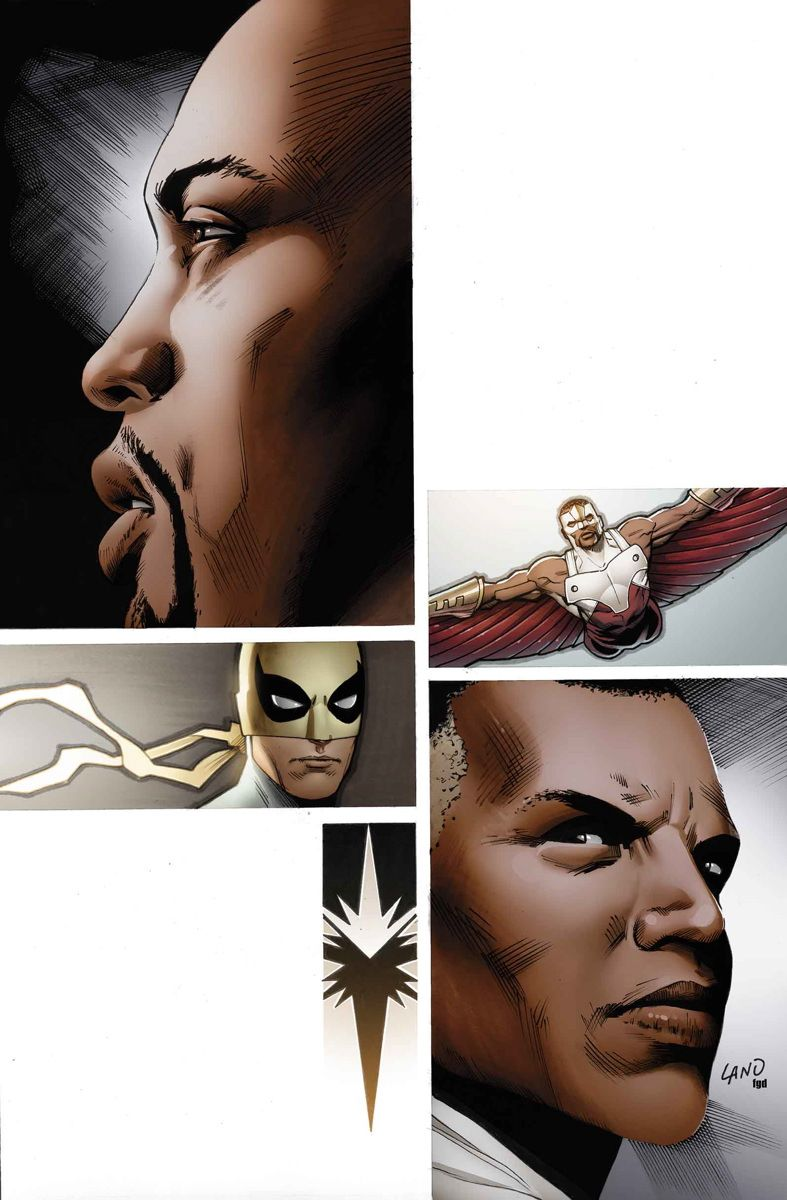 MIGHTY AVENGERS #6 & 7 AL EWING (W) VALERIO SCHITI (A) CoverS by GREG LAND ISSUE #6 - • The Falcon is on the hunt - and what he finds will rock the Mighty Avengers to their core! 32 PGS./Rated T+ …$3.99  ISSUE #7 - • Ava Ayala is the White Tiger. She channels the power of an ancient god of terror and bloodlust. And she just gave it full control.  32 PGS./Rated T+ …$3.99