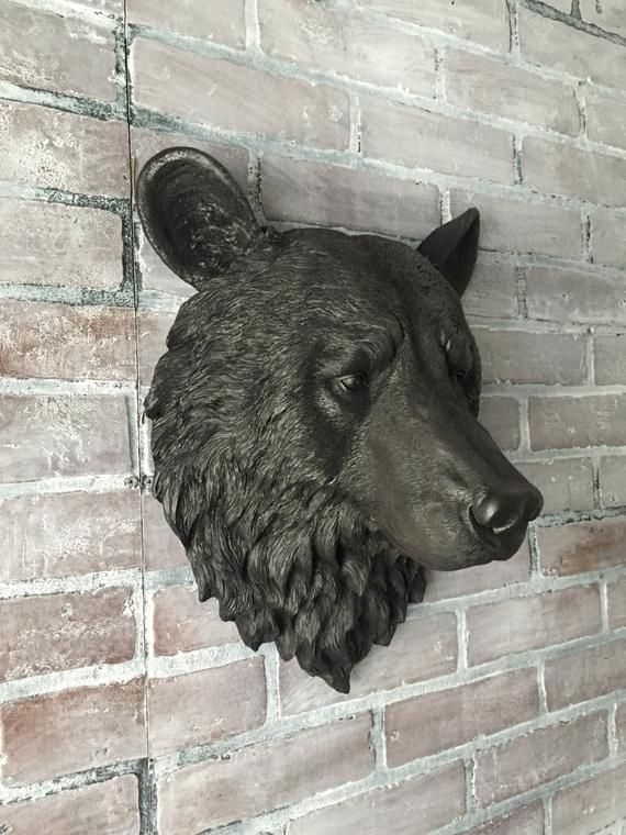 Any Color Or Faux Black Bear Head Wall Mount Taxidermy Etsy