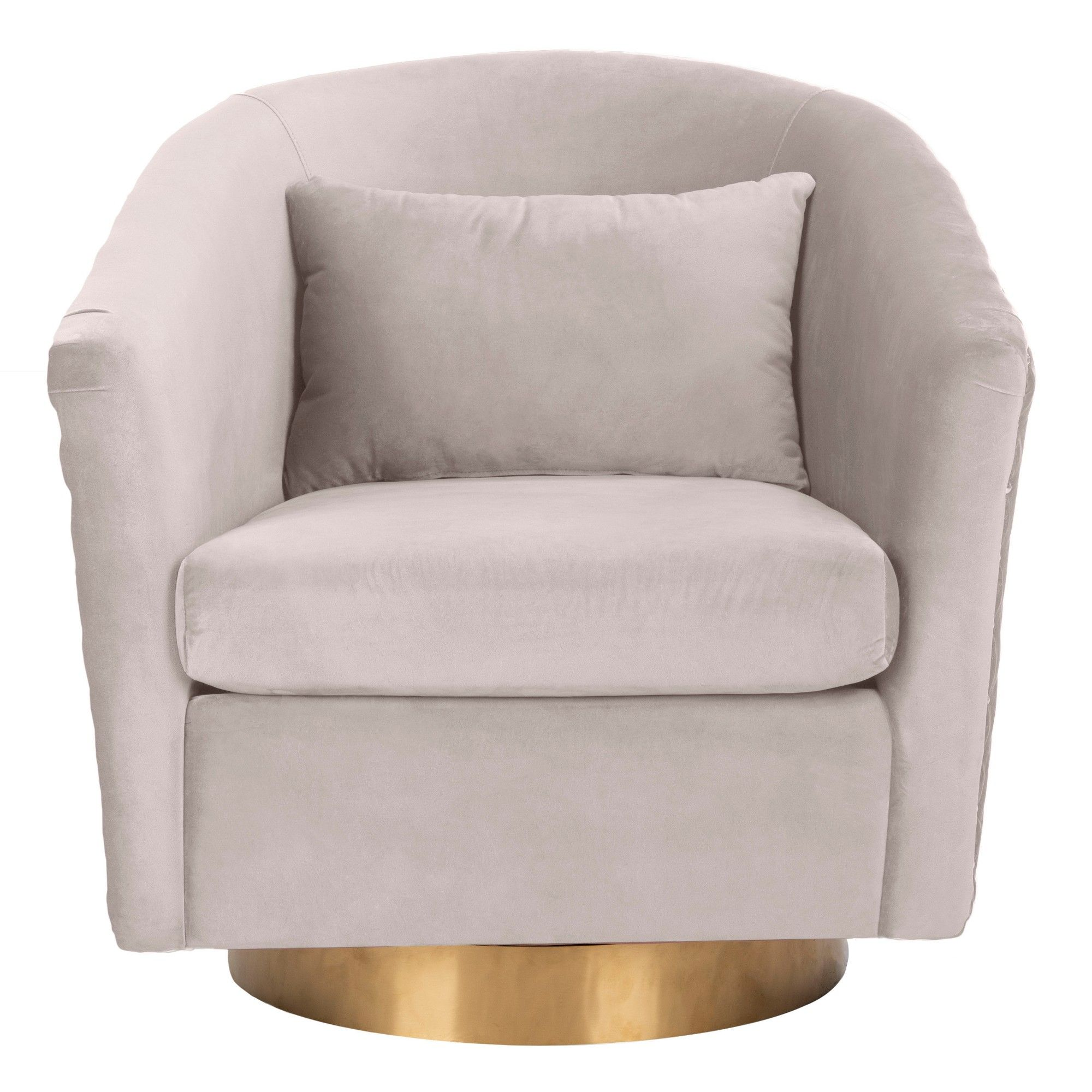 Swivel Tub Chair Clara Quilted Swivel Tub Chair Pale Taupe Safavieh Products