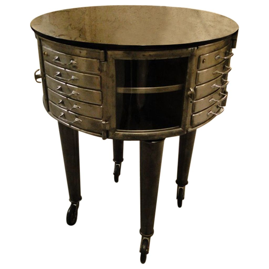 vtg 1940 50s simmons furniture metal medical. 1940s French Dental Cabinet Girator Rotating Medical Furniture | From A Unique Collection Of Antique And Modern Apothecary Cabinets At Vtg 1940 50s Simmons Metal O