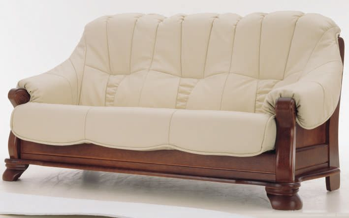 wood and leather furniture  people wood bottom leather sofa .