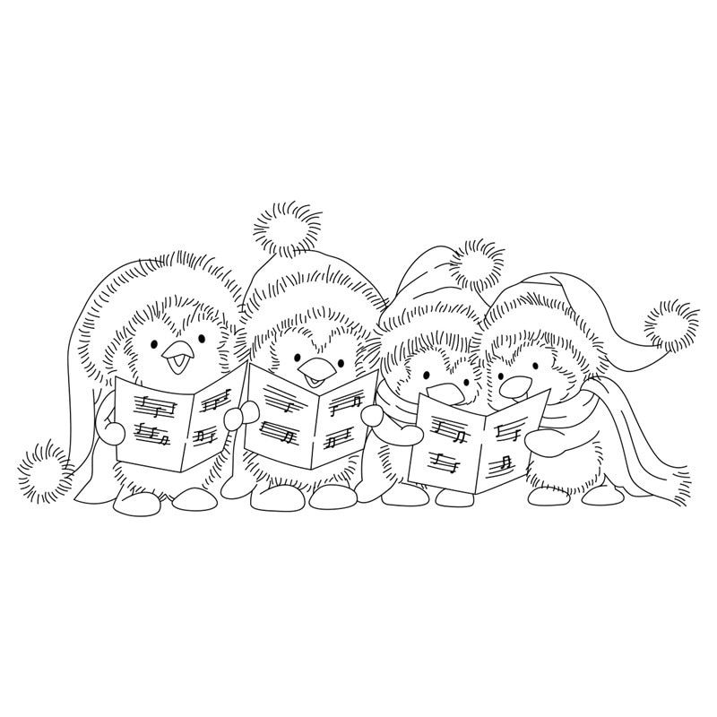 Christmas penguins stamp Transparent Clear Silicone Stamp