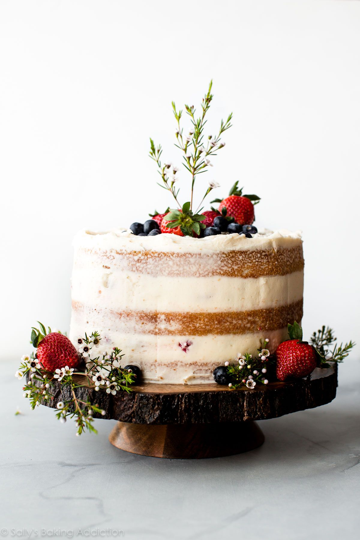Photo of Vanilla Naked Cake | Sally's Baking Addiction