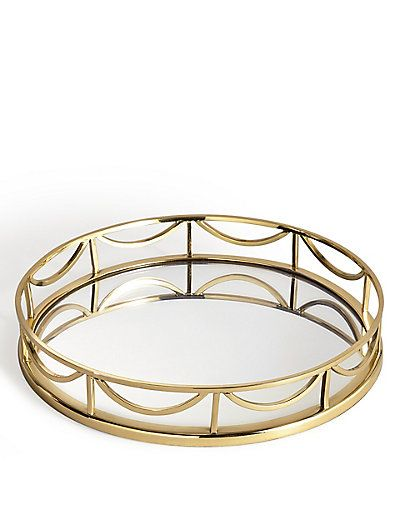 Decorative Mirror Tray Glamorous Decorative Round Mirror Tray  M&s  Bandejas Decorativas Review