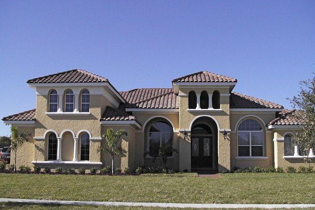 Mediterráneo Plan de Estilo Casa - 4 Dormitorios 3.5 Baños 4271 m² / Ft Plan de # 64-209 Frente de elevación - Houseplans.com