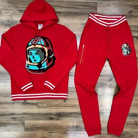Billionaire Boys Club Sweatsuit 881 2301 Red Mens Athletic Wear