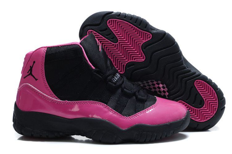 Air Jordan 11 womens pink black  d2d96ca15