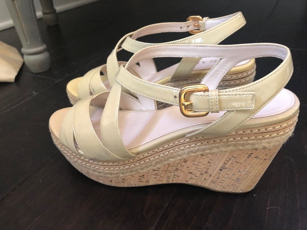 936f4ed7a7b86 shoes women high heels cream prada size 37 #fashion #clothing #shoes ...