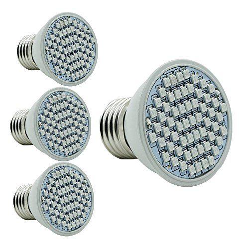 Pack Of 4 Hison 4W Led Plant Grow Light Lamp E27 Base60Pcs 400 x 300