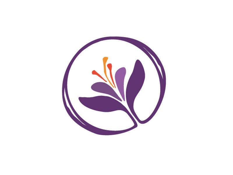 Saffron Logo Icon Spice Logo Catering Logo Flower Logo
