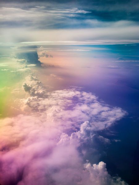 Psychedelic clouds