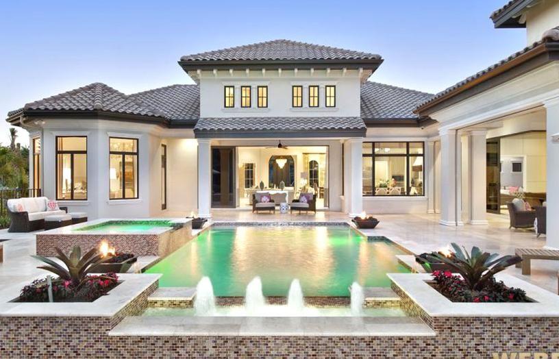 Mediterranean House Plan 1 Story Luxury Home Floor Plan In 2020 Luxury Mediterranean Homes Mediterranean Homes Mediterranean Style Homes
