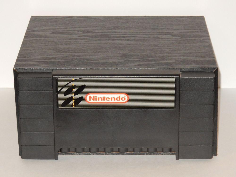 Super Nintendo 24 Game Drawer Black Wood Storage Cabinet #Nintendo ...