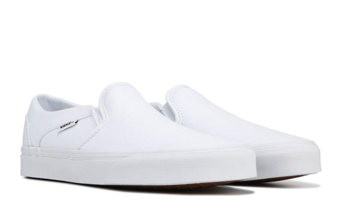 Vans Asher Slip On Sneaker White/White