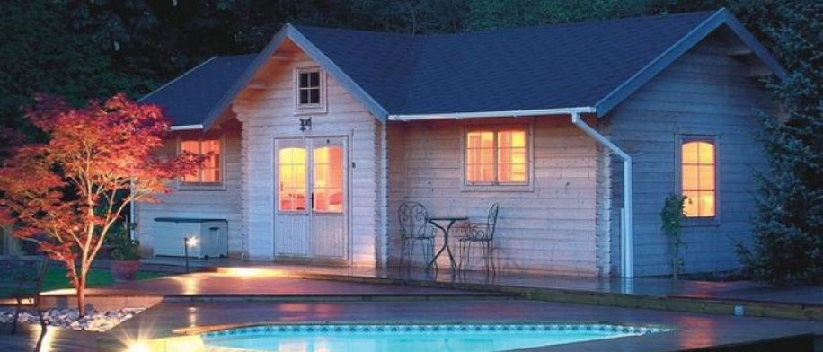 BZB Pre-Fab Cabins and House Kits- Prefab Solid Wood Pool House Kits ...