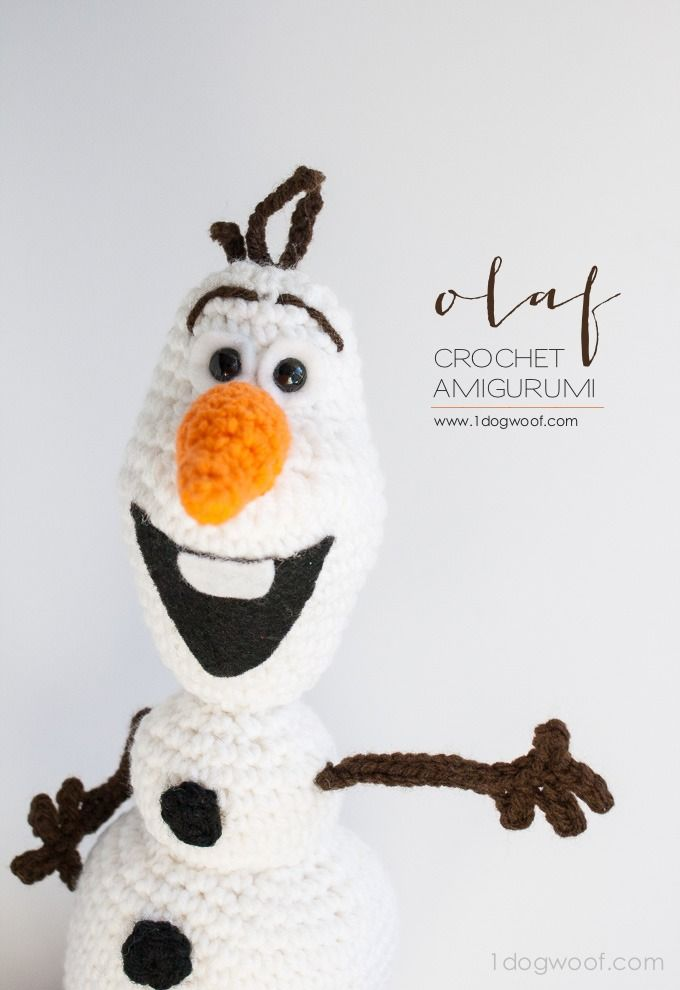 Olaf from Frozen Crochet Amigurumi Pattern | Olaf, Lana y Patrón de ...