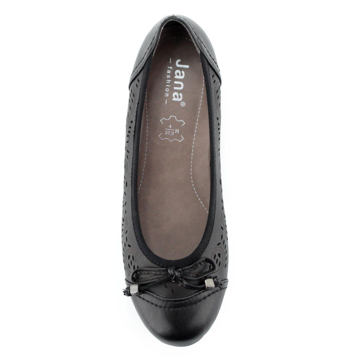 74ab087d78 Könnyű, kényelmes kerek orrú női cipő, orrán masni dísszel. Márka: Jana  Szín: Black Modellszám: 8-22102-24 001