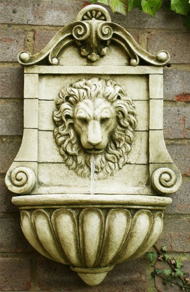 King Lion Head Wall Fountain Water Feature Wall Fountain Water Features Garden Water Fountains