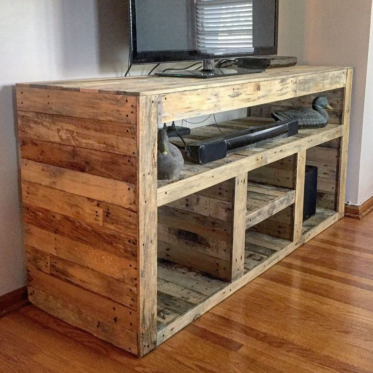 30 Easy Diy Tv Stand Designs Made Of Pallet Woods Diy