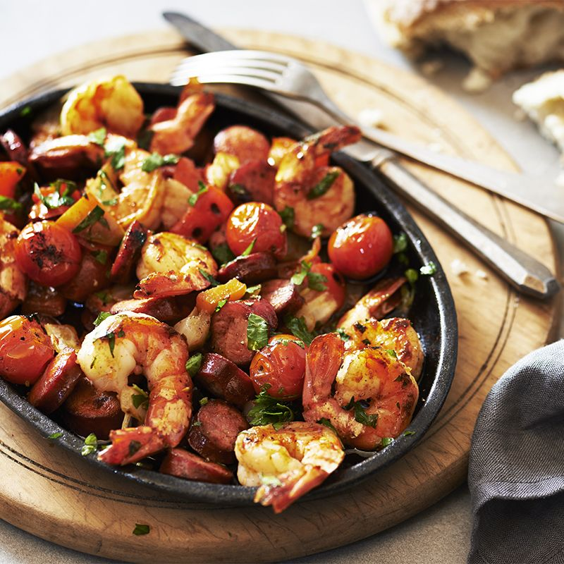 Shrimp and Chorizo Bake