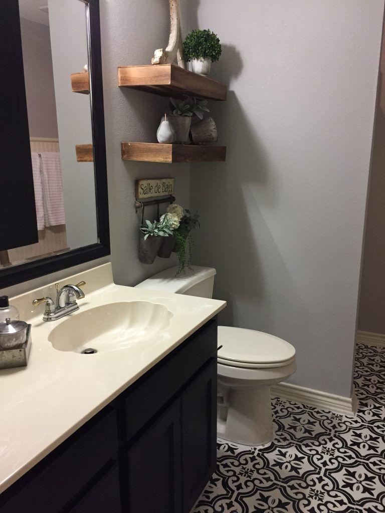 My Painted bathroom floor project Bathroom flooring
