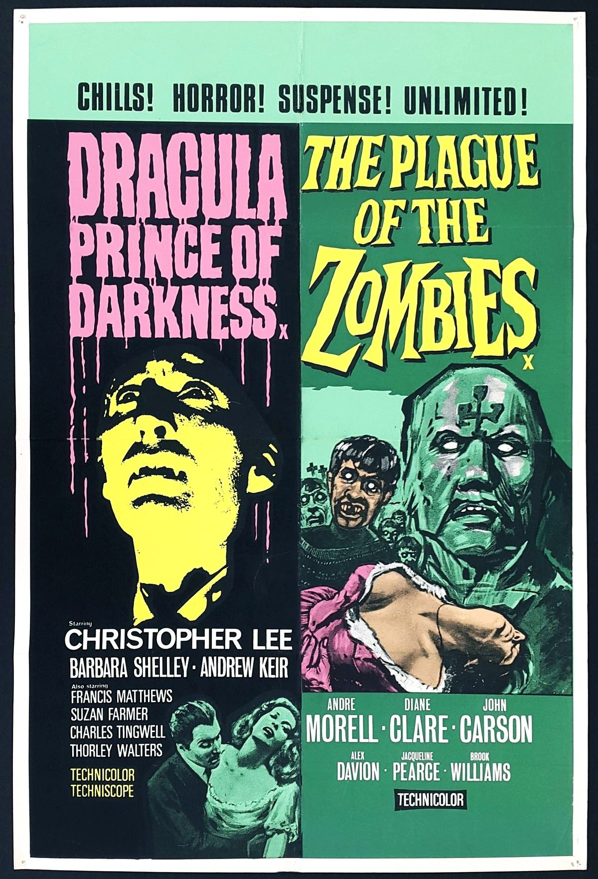 MOVIE poster REVOLT OF THE ZOMBIES horror DEAN JAGGER campy 24X36