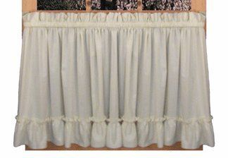 Stephanie Country Ruffle Tiers Curtains Pair 86 Inch By 45 Inch