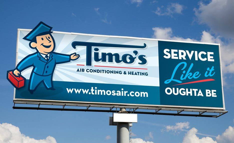 timo 39 s heating air conditioning billboard in palm
