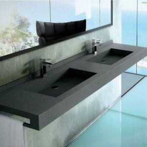 Fiora consolle lineare con lavabo doppio integrato 4 for Lavandino design