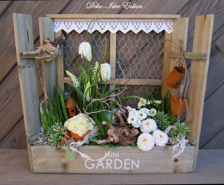 gesteck fr hling mini garden von deko idee eolion auf blumendeko. Black Bedroom Furniture Sets. Home Design Ideas