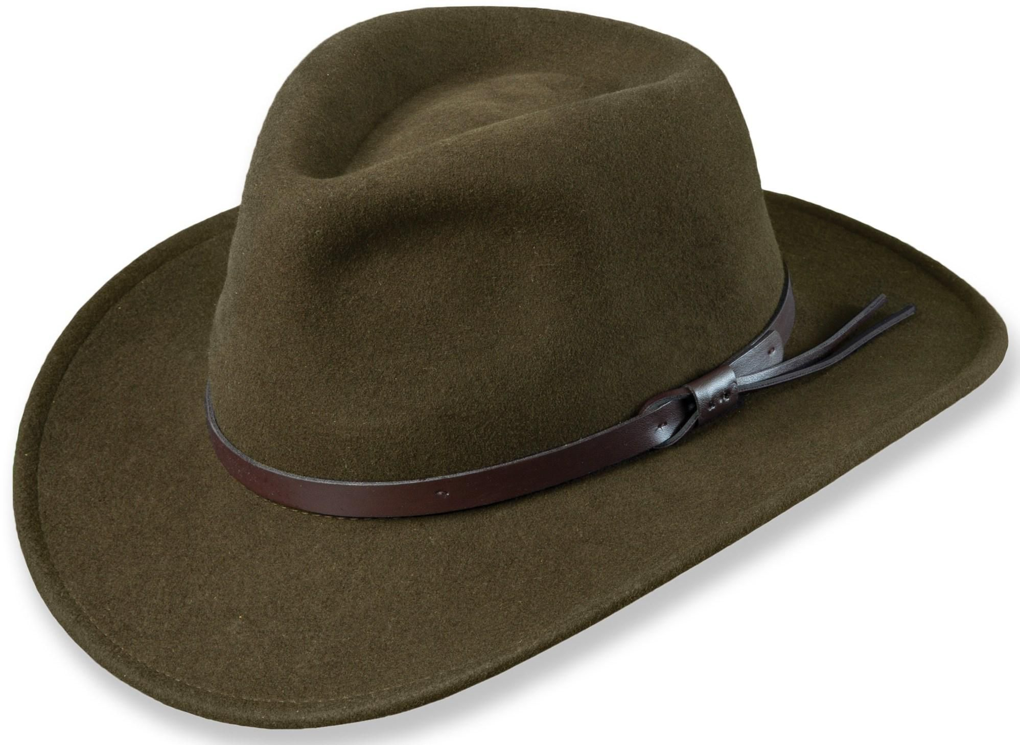 A fedora with a bit of western style. Crush it to fit in your pack ... 5c6d4c2c4be