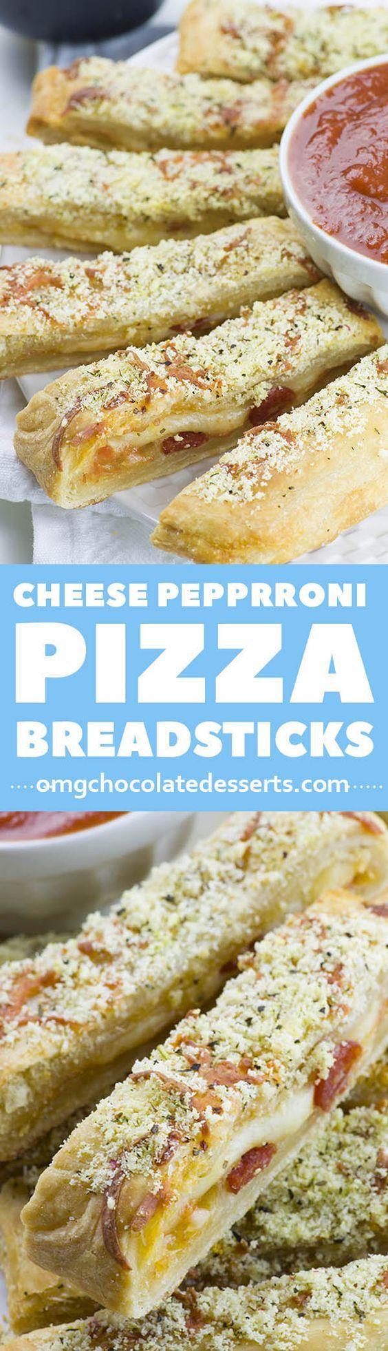 Easy Cheesy Pizza Breadsticks