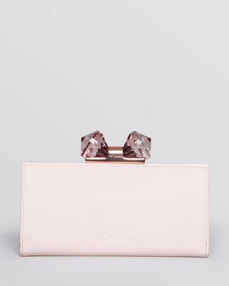 e33676f0e8d5 Ted Baker Wallet Crystal Bow Matinee Continental in Pink (Shell ...
