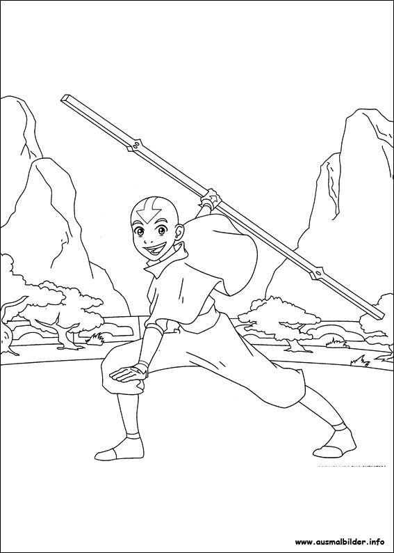 Avatar Der Herr Der Elemente Malvorlagen Avatar The Last Airbender Coloring Pages The Last Airbender