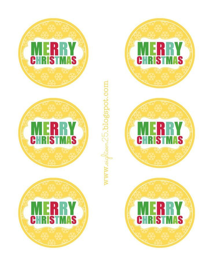 Merry christmas round printable print on our full sheet labels merry christmas round printable print on our full sheet labels here http free printable christmas tagsgift negle Images