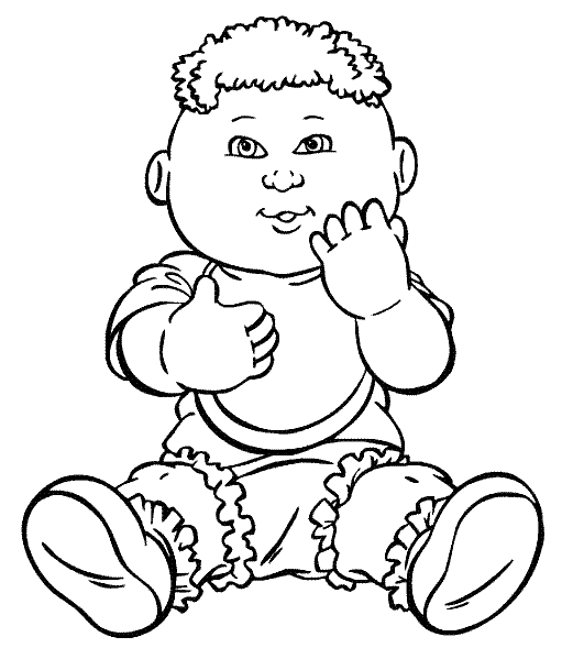 Cabbage Patch Kids Am Sitting Coloring Pages   Cabbage ...