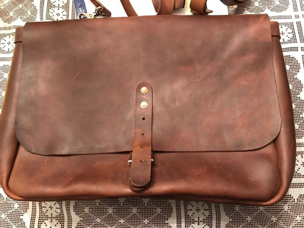 Vintage One Of A Kind Leather Mailbag