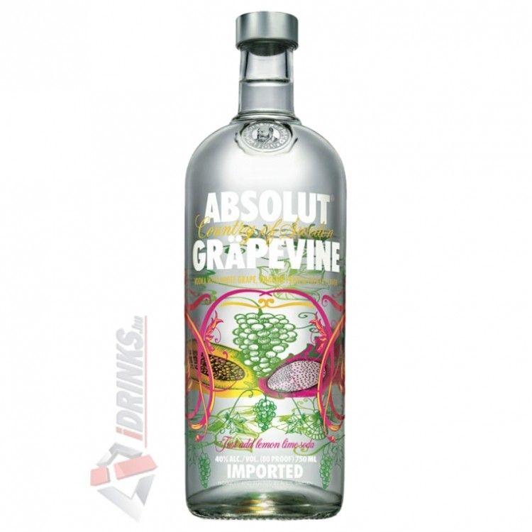 Absolut Grapevine Vodka [1L|40%] - Vodka - Ital rendelés online ...