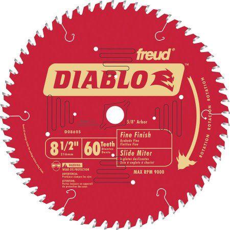Diablo 8 1 2 Dia X 5 8 In Titanium Carbide Miter Saw Blade 60 Teeth 1 Pc Walmart Com Circular Saw Blades Sliding Compound Miter Saw Circular Saw