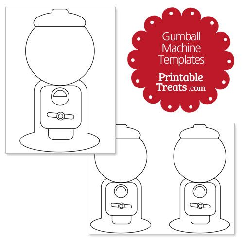 photo regarding Gumball Machine Printable named Printable Gumball System Template Finding out Gumball