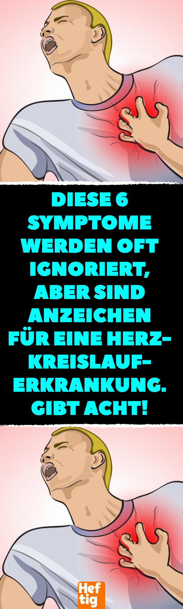 Diese 6 Symptome werden oft ignoriert, aber sind Anzeichen..