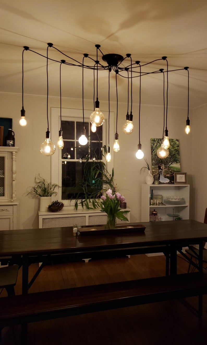 Modern Lighting Restaurant Industrial Swag Chandelier 14 Pendant