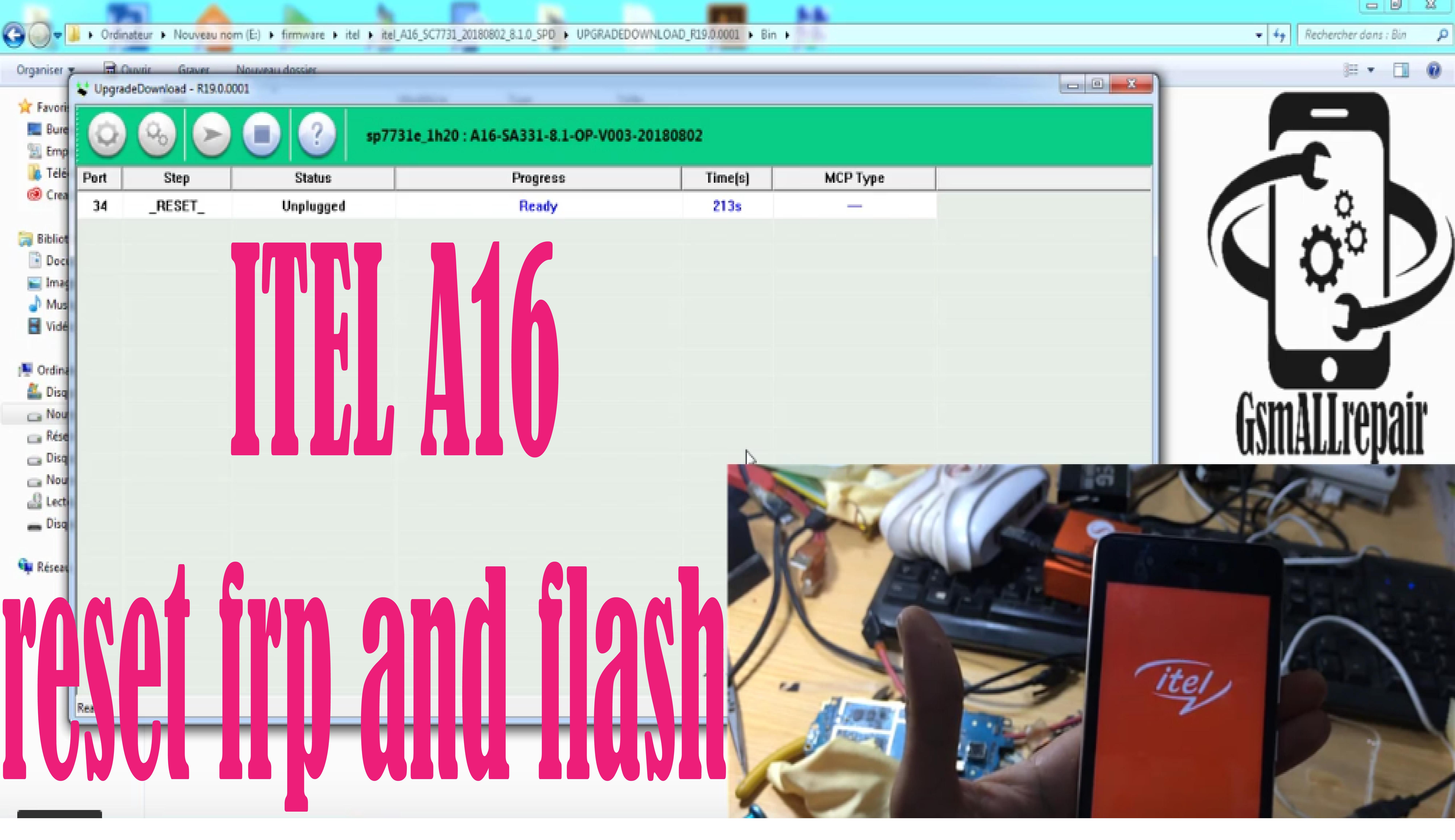 ITEL A16 reset frp and flash | ITEL FLASH en 2019