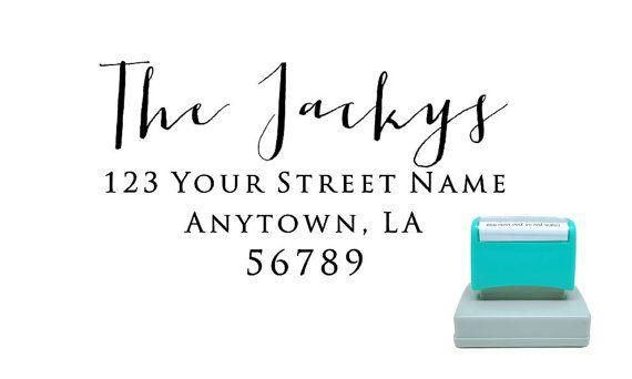 Personalized Self Inking Pre Inked Custom Made Return Address Stamp R277