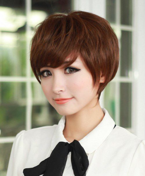 2017 Short Korean Hairstyles Chic Layered Pixie ...