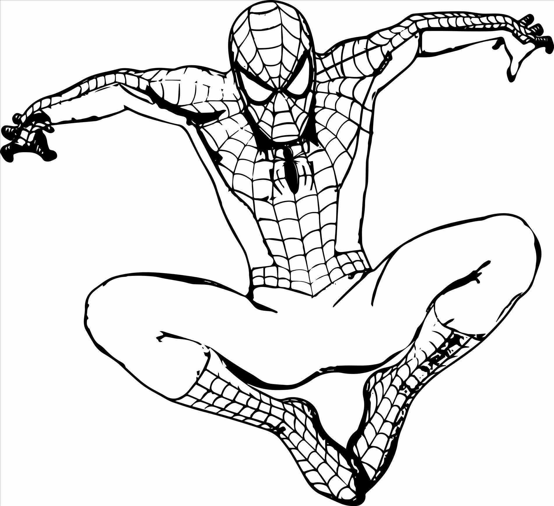 46++ Black spiderman coloring pages free inspirations
