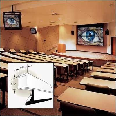 """100662 Signature/V Motorized Front Projection Screen - 55x92"""" by Draper. $3204.00. 100662 Features: -Clean appearance of a ceiling-recessed screen..-The closure is supported for its entire length so no sag is possible..-All surfaces are bordered in black..-Perfect for data projection..-12'' black drop is standard..-With control options, it can be operated from any remote location..-Warranted for one year against defects in materials and workmanship.. Options: -D..."""