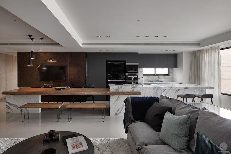 Zoom sur les points forts de la cuisine moderne avec îlot en 24